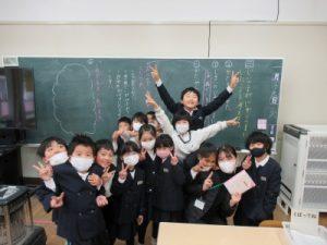 クラスで写真