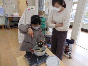 ごはん塾篠山幼稚園バージョン お味噌汁できあがりその1