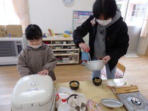 ごはん塾篠山幼稚園バージョン お味噌汁のできあがりその2
